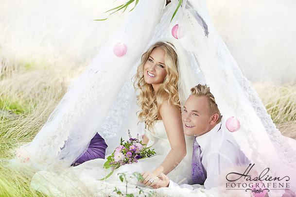 Bryllupsfoto av Malin og Jonas. Premiert med sølv.