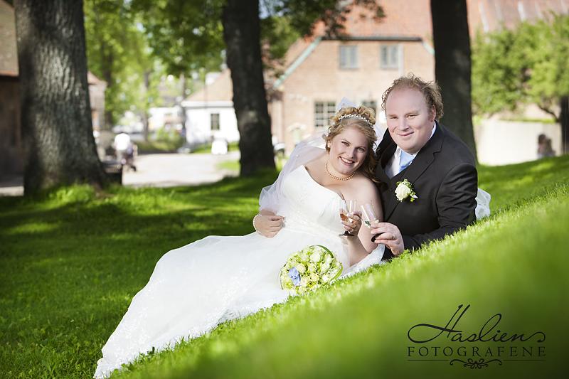 Bryllupsbildet viser Marlen og Cato som vi fotograferte sommeren 2011. Foto: Marion Haslien