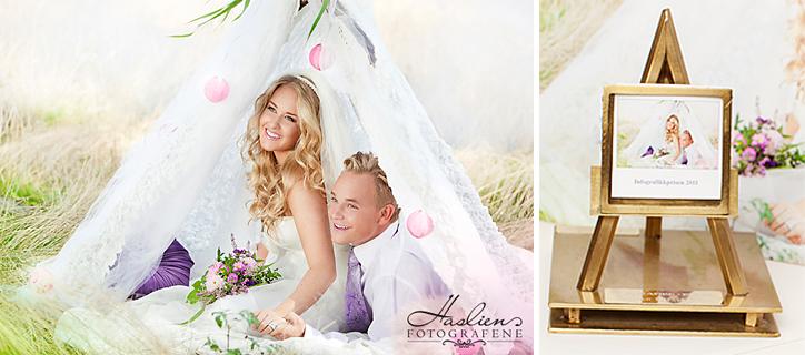 Vi fikk pris for våre bryllupsbilder i 2009, 2011 og 2012. Her med Inforgafikprisen i 2012 for bildet med høyest poengsum.