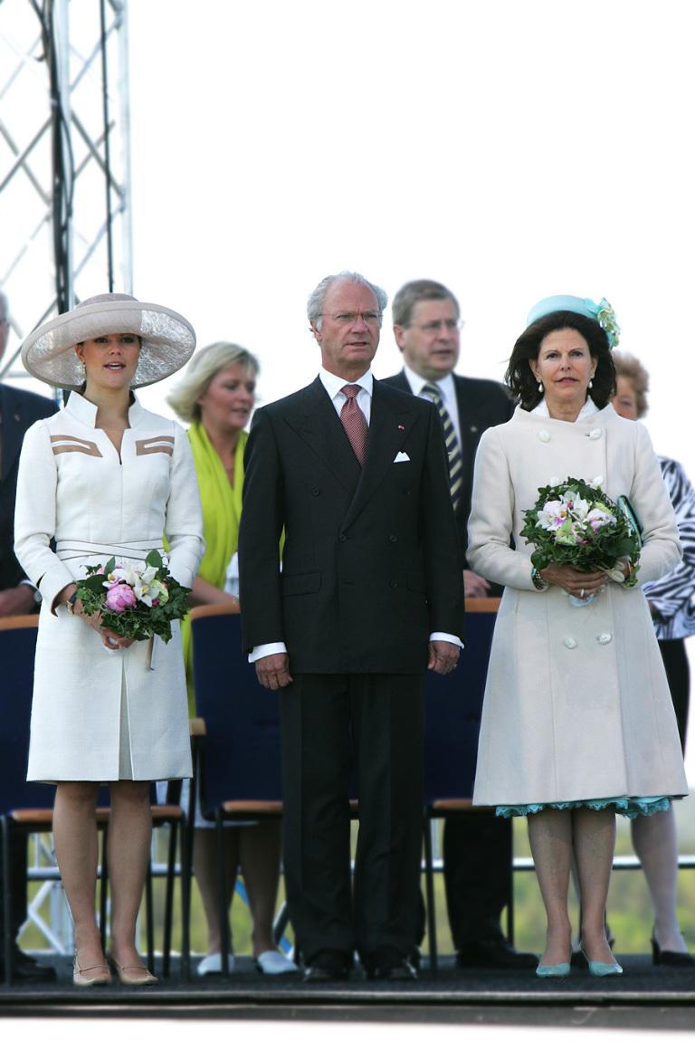 Den svenske kongefamilien var også med. På norsk side var også kronprinsen og kronprensessen med. Det var også dronningen. Foto: Marion Haslien