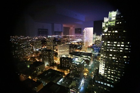 Bildet er tatt i 44-etasje i leiligheten Jeanett leide under sitt opphold i New York. Utsikten ga storbyfølelse så det holdt :-)