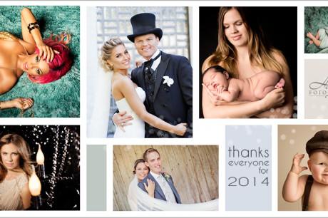 Louise Angelica og John Arne Risses bryllup, artisten Alexsandra Joner og mange andre har vært kunder av Haslien Fotografene i 2014. Dersom du besøker våre fotoarkiv vil du ta del i mange av bildene vi har tatt i løpet av året. Takk til alle som har anvendt oss som fotografer!
