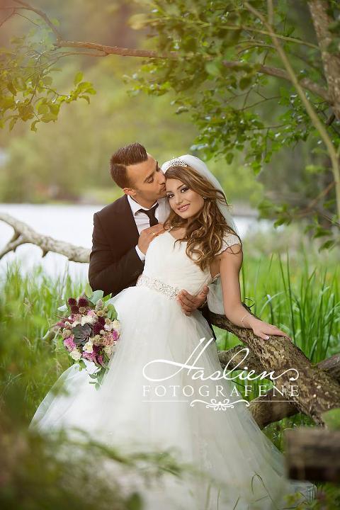 Bryllupsbilde som ble tatt sommeren 2015.