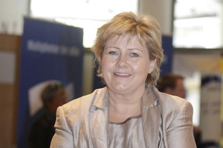 Statsminister Erna Solberg aksjonerte mot Facebook-sensur. Arkivfoto: Marion Haslien
