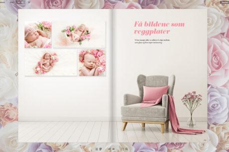 I vårt temahefte finner du eksempler på hvordan vi bruker blomster i både nyfødtfotografering og gravidfoto.