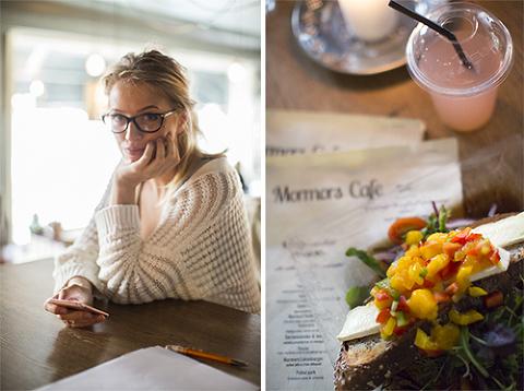 Jeanett Haslien på Mormors Cafe i Gamlebyen i Fredrikstad.
