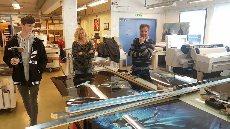 På besøk hos vår rammeleverandør Lundeby & Co AS. De er en av Scandinavias ledende leverandører av rammer.