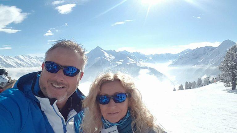 Sammen med mannen har jeg vært på ski i Alpene. Et utrolig nydelig sted for å hente inspirasjon.