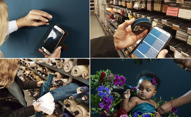 : Hos Haslien fotografene har vi fargemåler til gratis utlån til våre kunder. Fargemåleren gir nøyaktige fargemålinger og kobles mot en app på telefonen. Mobilfoto