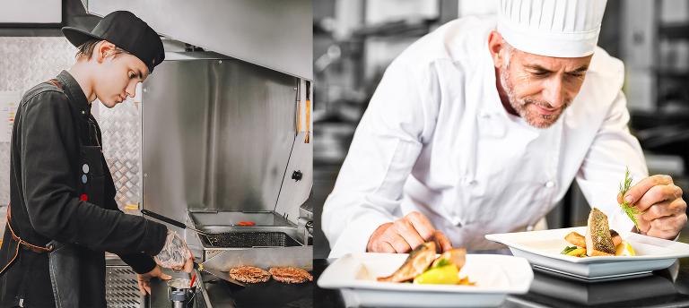 Begge lager mat men bare den ene av dem ville vi anvendt til bryllupsmiddag.